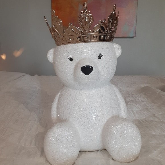 Bath and body works 3 wick bear candle holder